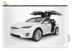 White 2017 Tesla Model X Luxury Suv Electric Car With Open Falco Carry-all Pouch