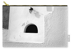 White Abstract Carry-all Pouch by Ana Maria Edulescu