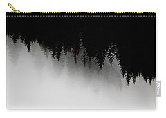 White And Black Trees Carry-all Pouch