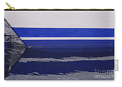 White And Blue Boat Symmetry Carry-all Pouch by Danuta Bennett
