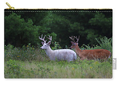 White And Brown Bucks Carry-all Pouch
