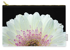 White And Pink Daisy Carry-all Pouch