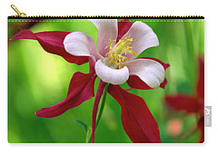 Carry-all Pouch featuring the photograph White And Red Columbine  by James Steele