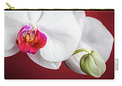 White And Red Orchids Carry-all Pouch