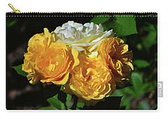 White And Yellow Rose Bouquet 001 Carry-all Pouch by George Bostian
