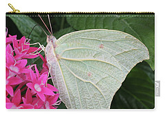 White Angled Sulphur #3 Carry-all Pouch