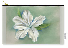 White Azalea Flower Carry-all Pouch