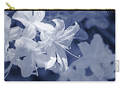 Carry-all Pouch featuring the photograph White Azalea Flowers Blues by Jennie Marie Schell