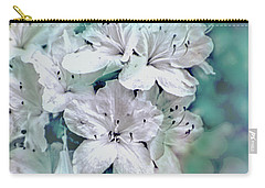 White Azaleas Carry-all Pouch by Sandy Moulder