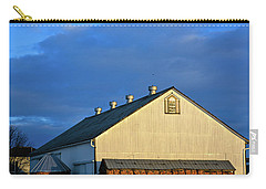 White Barn At Golden Hour Carry-all Pouch