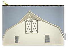 Carry-all Pouch featuring the photograph White Barn South Woodstock Vermont by Edward Fielding