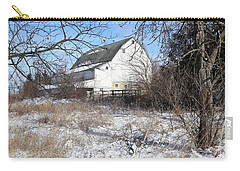 White Barn Through The Trees Carry-all Pouch