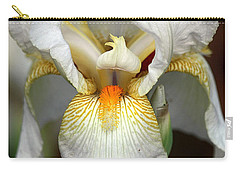Carry-all Pouch featuring the photograph White Bearded Iris 2 by Sheila Brown