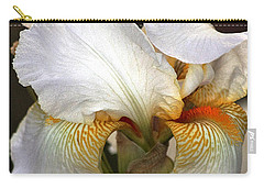 Carry-all Pouch featuring the photograph White Bearded Iris by Sheila Brown