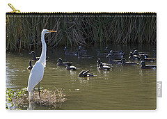 Carry-all Pouch featuring the photograph White Beauty by Phyllis Denton