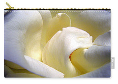 White Beauty Rose Carry-all Pouch