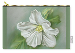 White Begonia Flower Carry-all Pouch