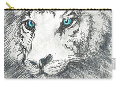 White Bengal Tiger Carry-all Pouch