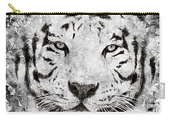 White Bengal Tiger Portrait Carry-all Pouch