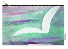 White Bird Purple Sky Carry-all Pouch