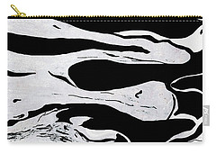 White Black Modern Art  Carry-all Pouch
