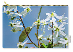 Carry-all Pouch featuring the photograph White Blossom by Cristina Stefan