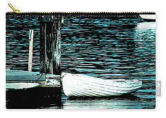 White Boats Carry-all Pouch by Ronda Broatch