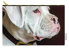 White Boxer Portrait Carry-all Pouch