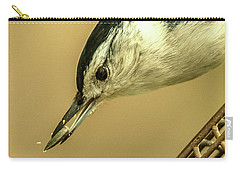 Carry-all Pouch featuring the photograph White-breasted Nuthatch by Jim Moore