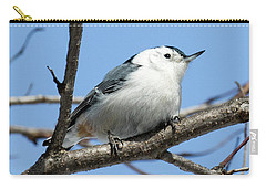 Carry-all Pouch featuring the photograph White-breasted Nuthatch Perched by Ricky L Jones