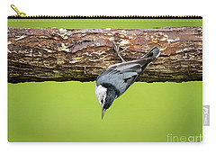 Carry-all Pouch featuring the photograph White-breasted Nuthatches by Ricky L Jones
