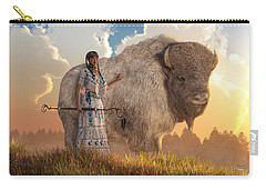 White Buffalo Calf Woman Carry-all Pouch by Daniel Eskridge