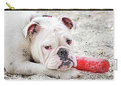 White Bull Dog Carry-all Pouch