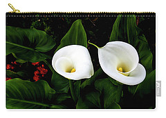 White Calla Lily Carry-all Pouch