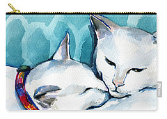 White Cat Affection Carry-all Pouch