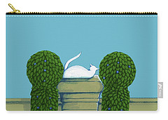 White Cat Blue Sky Carry-all Pouch