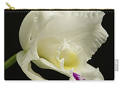 White Cattleya Orchid  Carry-all Pouch
