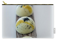 White Chocolate With Black Sesame Carry-all Pouch by Sabine Edrissi