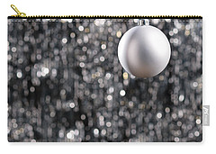 Carry-all Pouch featuring the photograph White Christmas Bauble  by Ulrich Schade