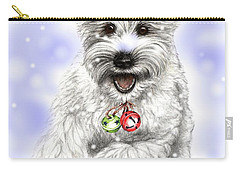 White Christmas Doggy Carry-all Pouch