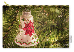 White Christmas Ornament Carry-all Pouch