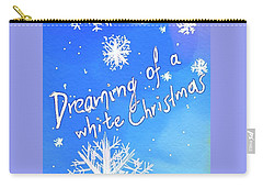 White Christmas  Carry-all Pouch