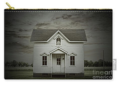 Carry-all Pouch featuring the photograph White Clapboard by Debra Fedchin