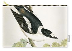 White Collared Flycatcher Carry-all Pouch