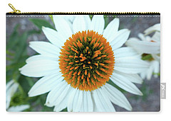 White Cone Flower Carry-all Pouch