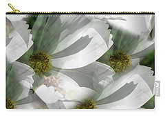 White Cosmos Petals Carry-all Pouch