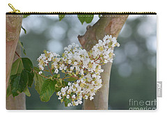 Carry-all Pouch featuring the photograph White Crepe Myrtle by Maria Urso
