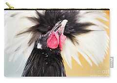 White Crested Black Polish  Carry-all Pouch