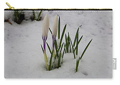 White Crocus In Snow Carry-all Pouch