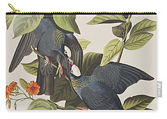 White Crowned Pigeon Carry-all Pouch by John James Audubon